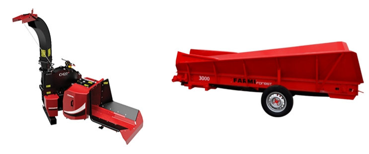 Cost-effective chipper solution: FarmiForest CH27 and BC3000