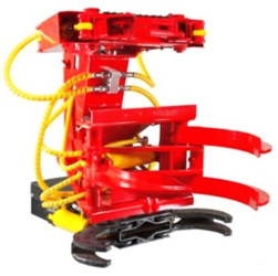 Accumulating biomass harvester head